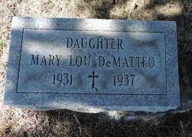 DEMATTEO, MARY LOU - Franklin County, Ohio | MARY LOU DEMATTEO - Ohio Gravestone Photos