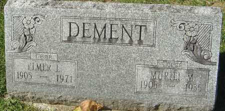 DEMENT, MURIEL M - Franklin County, Ohio | MURIEL M DEMENT - Ohio Gravestone Photos