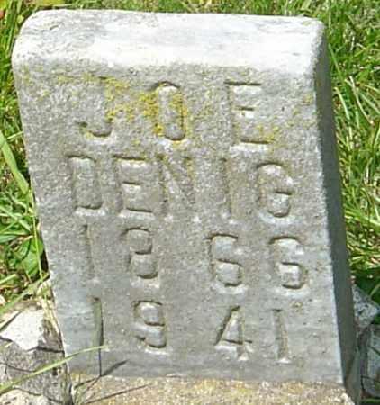DENIG, JOE - Franklin County, Ohio | JOE DENIG - Ohio Gravestone Photos