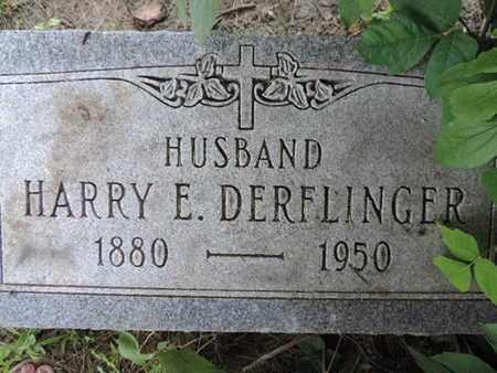 DERFLINGER, HARRY E. - Franklin County, Ohio | HARRY E. DERFLINGER - Ohio Gravestone Photos
