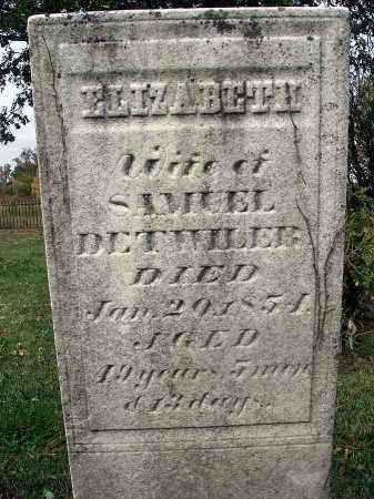 DETWILER, ELIZABETH - Franklin County, Ohio | ELIZABETH DETWILER - Ohio Gravestone Photos