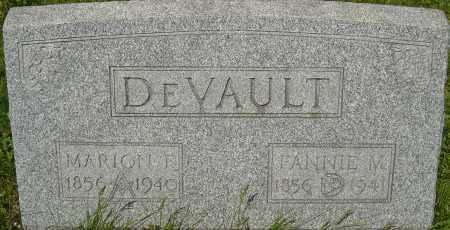 DEVAULT, FANNIE M - Franklin County, Ohio | FANNIE M DEVAULT - Ohio Gravestone Photos