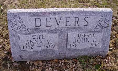 DEVERS, JOHN F. - Franklin County, Ohio | JOHN F. DEVERS - Ohio Gravestone Photos