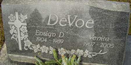 DEVOE, ENSIGN - Franklin County, Ohio | ENSIGN DEVOE - Ohio Gravestone Photos