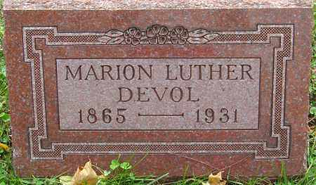 DEVOL, MARION LUTHER - Franklin County, Ohio | MARION LUTHER DEVOL - Ohio Gravestone Photos