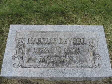DEVORE, ISABELLE - Franklin County, Ohio | ISABELLE DEVORE - Ohio Gravestone Photos
