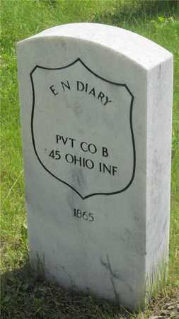 DIARY, E.N. - Franklin County, Ohio | E.N. DIARY - Ohio Gravestone Photos
