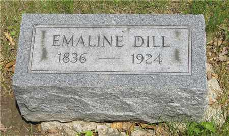 DILL, EMALINE - Franklin County, Ohio   EMALINE DILL - Ohio Gravestone Photos
