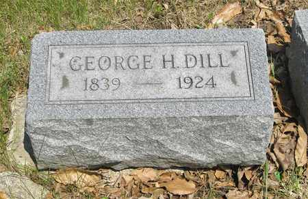 DILL, GEORGE H. - Franklin County, Ohio   GEORGE H. DILL - Ohio Gravestone Photos