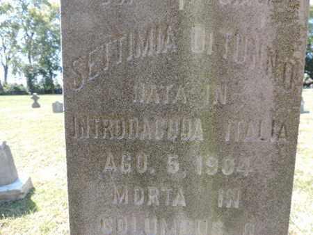 DITUNNO, SETTIMIA - Franklin County, Ohio   SETTIMIA DITUNNO - Ohio Gravestone Photos