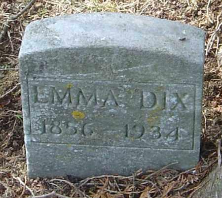 DIX, EMMA - Franklin County, Ohio   EMMA DIX - Ohio Gravestone Photos