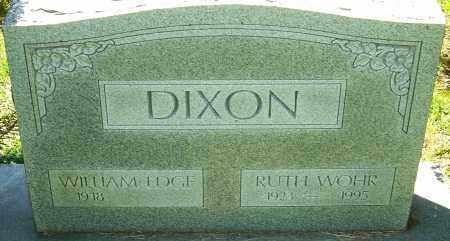 WOHR DIXON, RUTH - Franklin County, Ohio   RUTH WOHR DIXON - Ohio Gravestone Photos