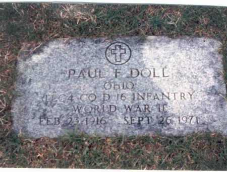 DOLL, PAUL F. - Franklin County, Ohio   PAUL F. DOLL - Ohio Gravestone Photos