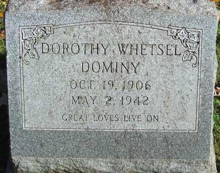 WHETSEL DOMINY, DOROTHY - Franklin County, Ohio | DOROTHY WHETSEL DOMINY - Ohio Gravestone Photos