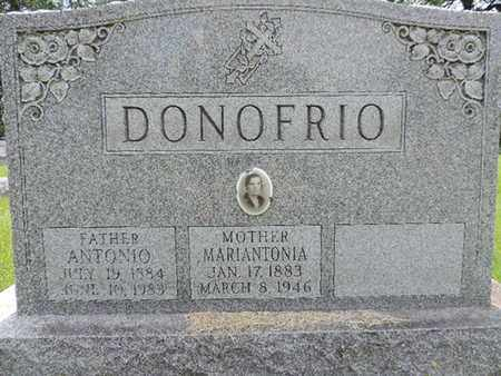 DONOFRIO, ANTONIO - Franklin County, Ohio | ANTONIO DONOFRIO - Ohio Gravestone Photos