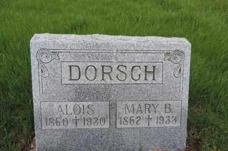 DORSCH, ALOIS - Franklin County, Ohio | ALOIS DORSCH - Ohio Gravestone Photos