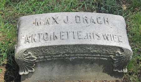 DRACH, ANTOINETTE - Franklin County, Ohio | ANTOINETTE DRACH - Ohio Gravestone Photos
