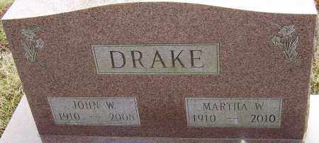 DRAKE, MARTHA W - Franklin County, Ohio | MARTHA W DRAKE - Ohio Gravestone Photos