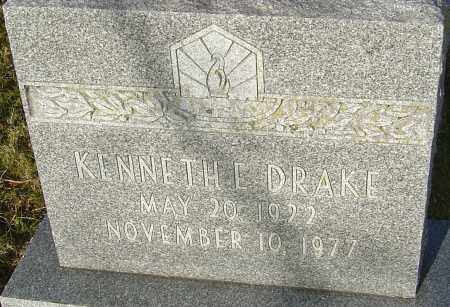 DRAKE, KENNETH E - Franklin County, Ohio | KENNETH E DRAKE - Ohio Gravestone Photos