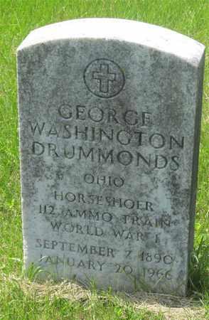 DRUMMONDS, GEORGE WASHINGTON - Franklin County, Ohio   GEORGE WASHINGTON DRUMMONDS - Ohio Gravestone Photos