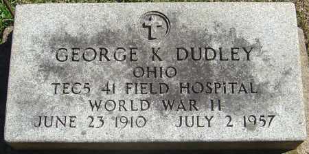 DUDLEY, GEORGE KENNETH - Franklin County, Ohio   GEORGE KENNETH DUDLEY - Ohio Gravestone Photos