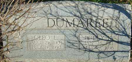 DUMAREE, CLEO L - Franklin County, Ohio | CLEO L DUMAREE - Ohio Gravestone Photos