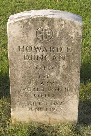 DUNCAN, HOWARD E. - Franklin County, Ohio | HOWARD E. DUNCAN - Ohio Gravestone Photos