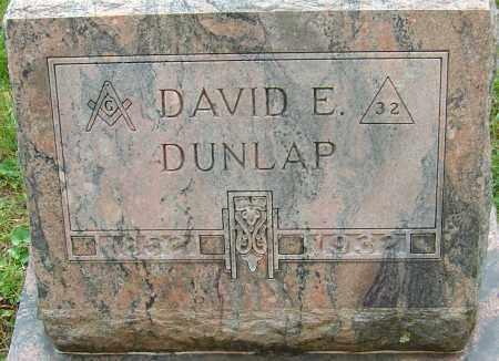 DUNLAP, DAVID E - Franklin County, Ohio | DAVID E DUNLAP - Ohio Gravestone Photos