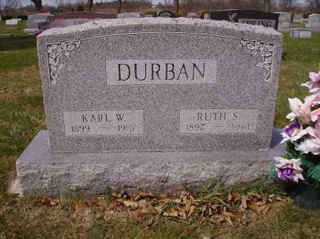 DURBAN, KARL - Franklin County, Ohio | KARL DURBAN - Ohio Gravestone Photos