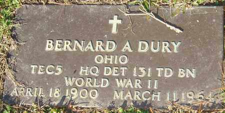 DURY, BERNARD A - Franklin County, Ohio | BERNARD A DURY - Ohio Gravestone Photos