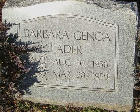 EADER, BARBARA - Franklin County, Ohio | BARBARA EADER - Ohio Gravestone Photos