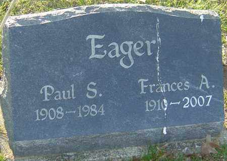 EAGER, FRANCES A - Franklin County, Ohio | FRANCES A EAGER - Ohio Gravestone Photos