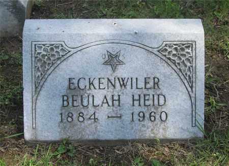 HEID ECKENWILER, BEUHLAH - Franklin County, Ohio   BEUHLAH HEID ECKENWILER - Ohio Gravestone Photos