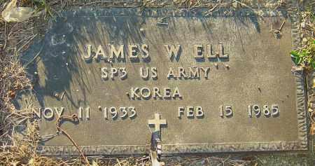 ELL, JAMES W - Franklin County, Ohio | JAMES W ELL - Ohio Gravestone Photos