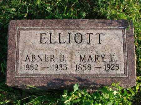 ELLIOTT, MARY E. - Franklin County, Ohio | MARY E. ELLIOTT - Ohio Gravestone Photos