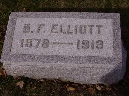ELLIOTT, B.F. - Franklin County, Ohio | B.F. ELLIOTT - Ohio Gravestone Photos
