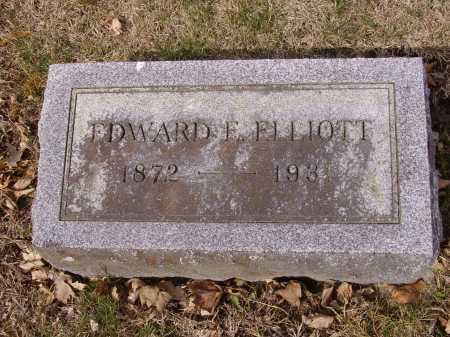 ELLIOTT, EDWARD E. - Franklin County, Ohio | EDWARD E. ELLIOTT - Ohio Gravestone Photos