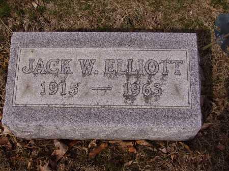 ELLIOTT, JACK W. - Franklin County, Ohio   JACK W. ELLIOTT - Ohio Gravestone Photos