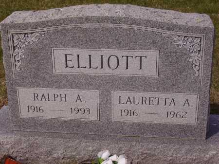 ELLIOTT, LAURETTA A. - Franklin County, Ohio | LAURETTA A. ELLIOTT - Ohio Gravestone Photos