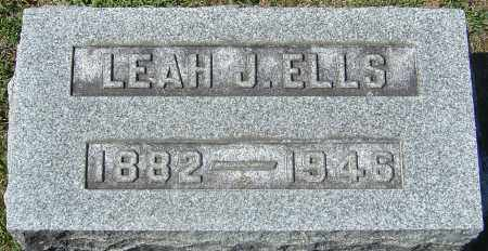 BAUGHMAN ELLS, LEAH JESSIE - Franklin County, Ohio | LEAH JESSIE BAUGHMAN ELLS - Ohio Gravestone Photos