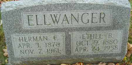 ELLWANGER, HERMAN FERNANDO - Franklin County, Ohio | HERMAN FERNANDO ELLWANGER - Ohio Gravestone Photos