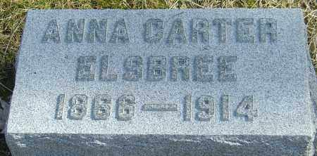 CARTER ELSBREE, ANNA - Franklin County, Ohio   ANNA CARTER ELSBREE - Ohio Gravestone Photos