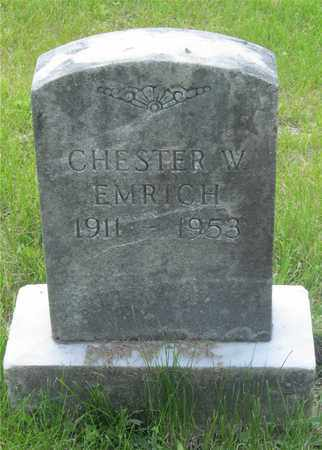 EMRICH, CHESTER W. - Franklin County, Ohio | CHESTER W. EMRICH - Ohio Gravestone Photos