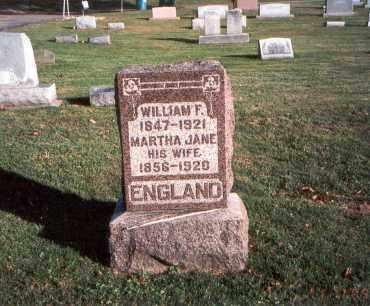 ENGLAND, WILLIAM F. - Franklin County, Ohio   WILLIAM F. ENGLAND - Ohio Gravestone Photos