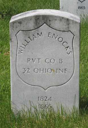 ENOCKS, WILLIAM - Franklin County, Ohio | WILLIAM ENOCKS - Ohio Gravestone Photos