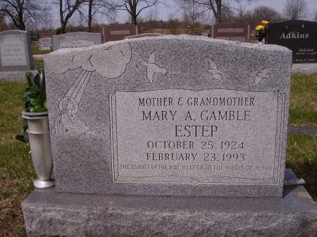 CAMBLE ESTEP, MARY A. - Franklin County, Ohio | MARY A. CAMBLE ESTEP - Ohio Gravestone Photos
