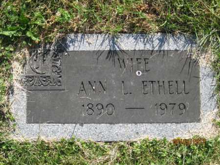 ETHELL, ANN L - Franklin County, Ohio | ANN L ETHELL - Ohio Gravestone Photos