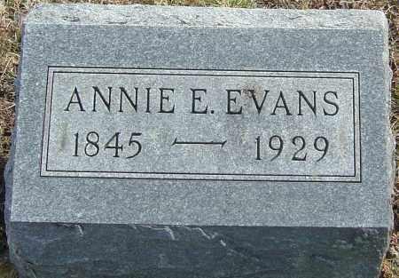 EVANS, ANNIE E - Franklin County, Ohio   ANNIE E EVANS - Ohio Gravestone Photos