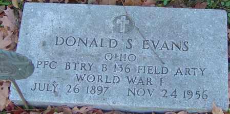 EVANS, DONALD S - Franklin County, Ohio   DONALD S EVANS - Ohio Gravestone Photos