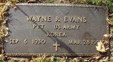 EVANS, WAYNE R. - Franklin County, Ohio | WAYNE R. EVANS - Ohio Gravestone Photos